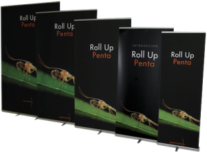 roll-up teline Penta, eri leveyksiä